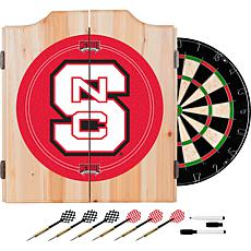 North Carolina State Dart Cabinet w/ Darts and Board