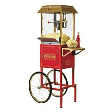 "Nostalgia 59""T Vintage Collection 10oz. Kettle Popcorn Cart - Red"