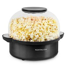 Nostalgia 6-Quart Black Stainless Steel Stirring Speed Popcorn Popper
