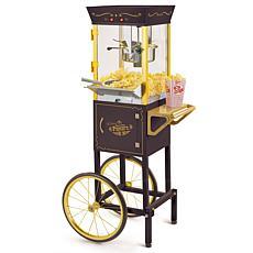 """Nostalgia CCP510BK 53"""" Vintage 8 oz. Commercial Popcorn Cart"""