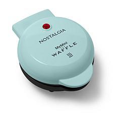 Nostalgia MyMini Personal Electric Waffle Maker in Aqua