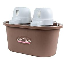 Nostalgia PICM2DBL 4-Quart Double Flavor Ice Cream Maker