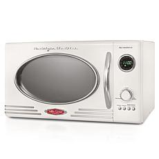 Nostalgia Retro 0.9 Cu. Ft. 800-Watt Countertop Microwave Oven - Ivory