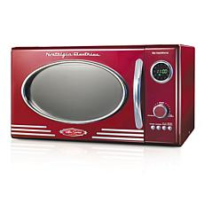 Nostalgia Retro 0.9 Cu. Ft. 800-Watt Countertop Microwave Oven - Red