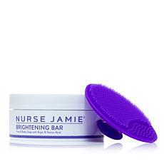 Nurse Jamie Brightening Bar Face & Body Soap with Exfolibrush