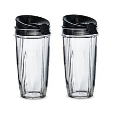 Nutri Ninja 24oz Tritan Cup with Spout Lid 2-pack