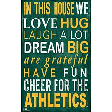 Oakland Athletics In This House Sign
