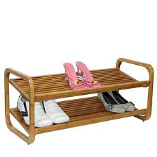 Oceanstar 2-Tier Stackable Bamboo Shoe Rack