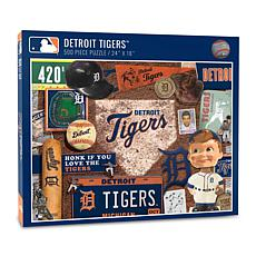 """Officially Licensed 24""""L x 18""""W MLB Detroit Tigers 500-Piece Puzzle"""