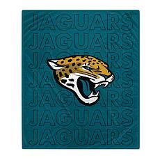 """Officially Licensed 60"""" x 70"""" Prima Fleece Echo Throw Blanket- Jaguars"""