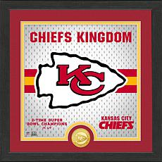 Officially Licensed Battle Cry Bronze Photo Mint - Chiefs