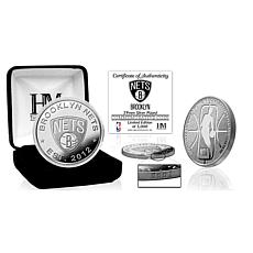 Officially Licensed Brooklyn Nets Silver Mint Coin