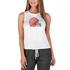 Officially Licensed by Concepts Sport NFL Gable Knit Tank - Browns