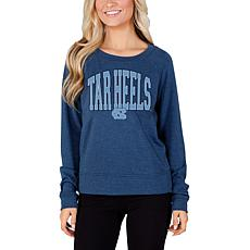 Officially Licensed Concepts Sport Ladies' Long Sleeve Knit Top - UNC