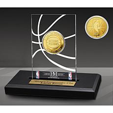 Officially Licensed Detroit Pistons 3x Champs Coin Desktop Display