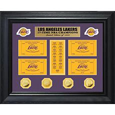 Officially Licensed Lakers 17x Champions Gold Coin Banner Collection