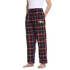 Officially Licensed Men's Plaid Flannel Pant by Concept Sports-Broncos