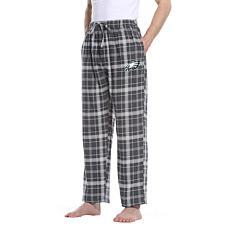 Officially Licensed Men's Plaid Flannel Pant by Concept Sports- Eagles