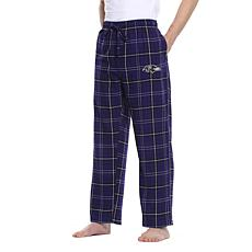 Officially Licensed Men's Plaid Flannel Pant by Concept Sports- Ravens
