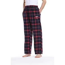 Officially Licensed Men's Plaid Flannel Pant by Concept Sports-Twins