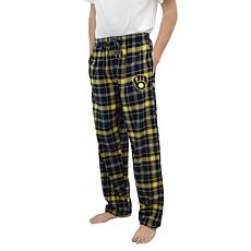 Officially Licensed Men's Plaid Flannel Pant by Concepts Sport-Brewers