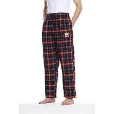 Officially Licensed Men's Plaid Flannel Pant by Concepts Sport-Astros