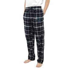 Officially Licensed Men's Plaid Flannel Pant by Concepts Sport-Marlins