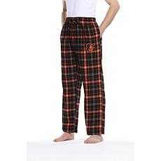 Officially Licensed Men's Plaid Flannel Pant by Concepts Sport-Orioles