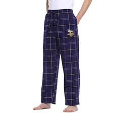 Officially Licensed Men's Plaid Flannel Pant, Concept Sports - Vikings