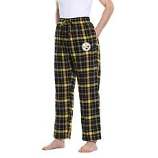 Officially Licensed Men's Plaid Flannel Pant, Concept Sports- Steelers
