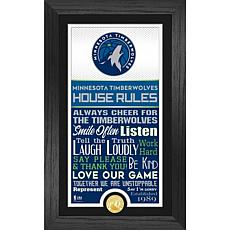 Officially Licensed Minnesota Timberwolves House Rules Coin Photo Mint