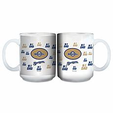"Officially Licensed MLB ""#1 Dad"" 15 oz. White Mug - Brewers"