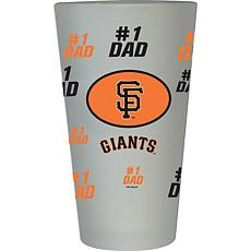 """Officially Licensed MLB """"#1 Dad"""" Frosted Pint Glass - Giants"""