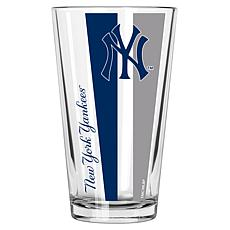 Officially Licensed MLB 16 oz. Vertical Decal Pint Glass - Yankees