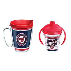 Officially Licensed MLB 16oz. Coffee Mug and 6oz. Sippy Cup- Nationals