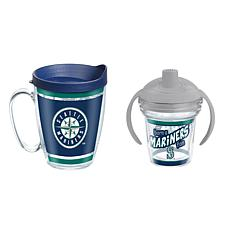 Officially Licensed MLB 16oz. Coffee Mug and 6oz. Sippy Cup - Mariners