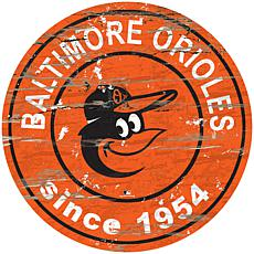 "Officially Licensed MLB 24"" Established Date Sign - Baltimore Orioles"