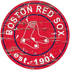 "Officially Licensed MLB 24"" Established Date Sign - Boston Red Sox"
