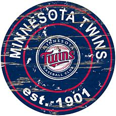 """Officially Licensed MLB 24"""" Established Date Sign - Minnesota Twins"""