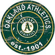 """Officially Licensed MLB 24"""" Established Date Sign - Oakland Athletics"""