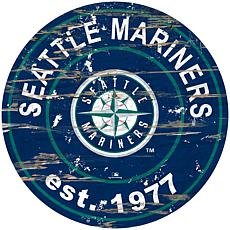 """Officially Licensed MLB 24"""" Established Date Sign - Seattle Mariners"""