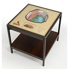 Officially Licensed MLB 25-Layer StadiumViews End Table-SL. Cardinals