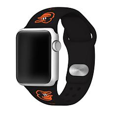 Officially Licensed MLB 38/40mm Silicone Apple Watchband - Orioles