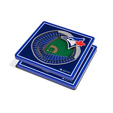 Officially Licensed MLB 3D StadiumViews Coaster Set- Toronto Blue Jays