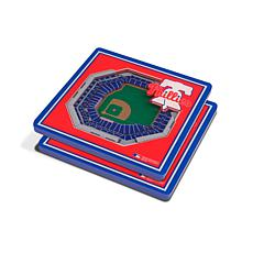Officially Licensed MLB 3D StadiumViews Coasters-Philadelphia Phillies
