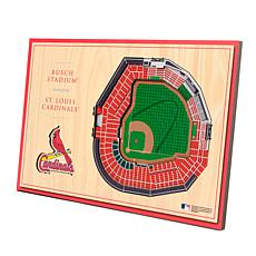Officially-Licensed MLB 3D StadiumViews Display - St. Louis Cardinals