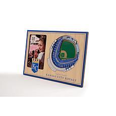 Officially Licensed MLB 3D StadiumViews Frame - Kansas City Royals