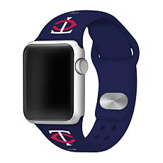 Officially Licensed MLB 42/44mm Apple Watch Band - Minnesota Twins