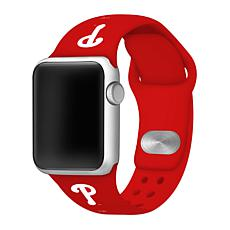 Officially Licensed MLB 42/44mm Apple Watch Band - Phila. Phillies