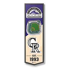 "Officially Licensed MLB 6"" x 19"" 3D Stadium Banner - Colorado Rockies"